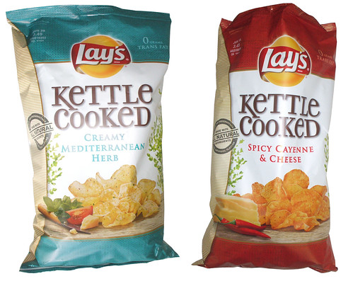 Lay's Kettle Cooked Creamy Mediterranean Herb and Spicy Cayenne & Cheese