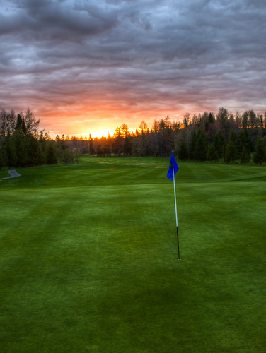 Sunset on the Golf Course - Quebec City