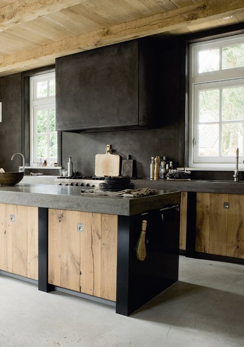 a modern rustic kitchen