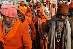Pilgrims at the Magh Mela (Leonid Plotkin) Tags: india festival asia traditional religion ritual tradition hindu hinduism pilgrim mela sangam pilgrims allahabad pryag maghmela