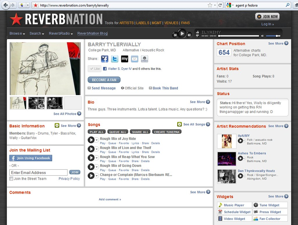 ReverbNation Site