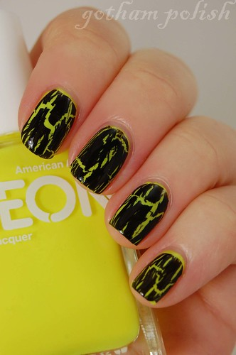 American Apparel Neon Yellow Shatter