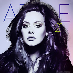 Adele - 21 (COVERLANDIA) Tags: rain set fire official you 21 album deep like cover single tables someone to adele 19 turning rolling the in fanmade coverlandia