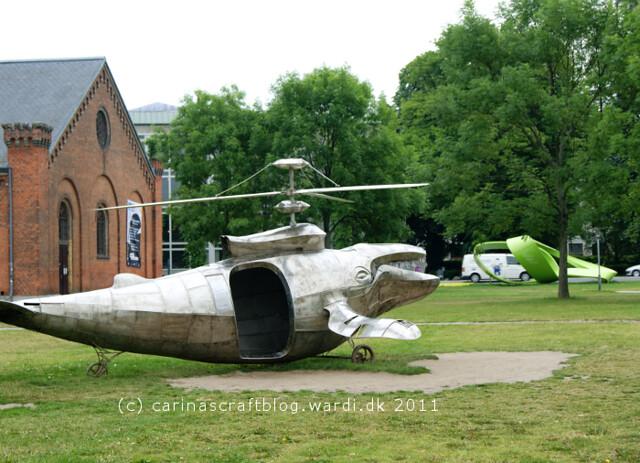 Hval skulptur foran Musikhuset Århus