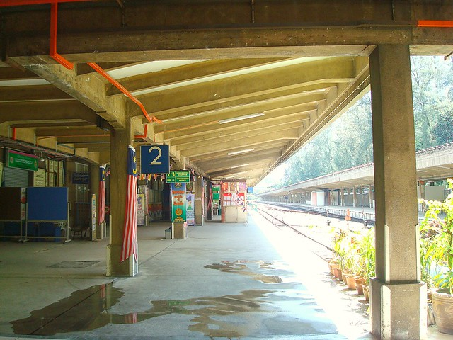 Departure platform ~ KTM / Malayan Railways Limited -丹戎巴葛火车总站