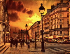 Art in Paris  [explore] (PhotoArt Images) Tags: street sunset paris france explore photoart hdr photart photoartimages