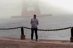 19970518 49 David @ Golden Gate Bridge, San Francisco (davidwilson1949) Tags: sanfrancisco california david fog wilson