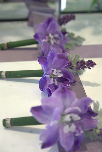 Lavender and especially purple have been a very popular wedding colour theme