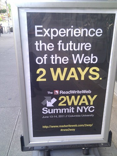 Read Write Web 2 Way Conference New York June 2011