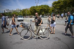 Barcelona Cycle Chic Bike and Brompton and Miguel