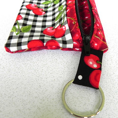 cherry zipper pouch
