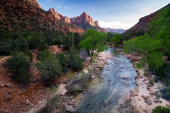 Sunset at Zion National Park (Zolashine) Tags: leica travel sunset usa nature river landscape thailand utah nationalpark unitedstatesofamerica northamerica zion zionnationalpark virginriver 21mm pichayaviwatrujirapong