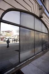 (pop archaeologist) Tags: city nyc newyork reflection brooklyn nikon parkslope sidewalk pedestrians crosswalk flatbushave d600 20mm35 mirrorredwindow