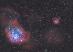 M8 and M20 reprocessed (Simon__W) Tags: astro astrophotography astronomy m8 m20 asi1600 takahashi