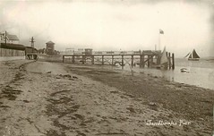 Sandbanks Pier (mgjefferies) Tags: england dorset poole sandbanks seaside harbour postcard 1914