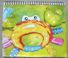 happy crabby (hannahokoch) Tags: silly toys brightlycolored sketchbookchallenge