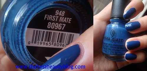 China Glaze nail polish, First Mate, royal blue