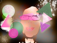 Geometry (Ameliepie) Tags: light portrait selfportrait colors photoshop triangle adobephotoshop geometry processing circular