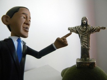 Obama and Christ the Redeemer, on Twitpic, by @anglinho