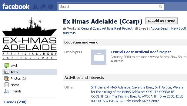 ex-HMAS Adelaide (Ccarp) Facebook page