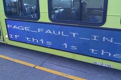 Bus blue screen (Squibbles) Tags: bluescreenofdeath bsod flickroid