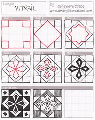 Tangle: Vitrail (Amaryllis Creations) Tags: tangle zentangle