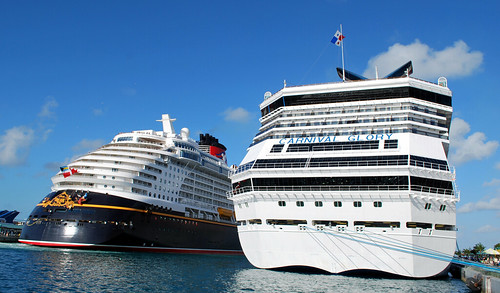 The Carnival Glory and The Disney Magic