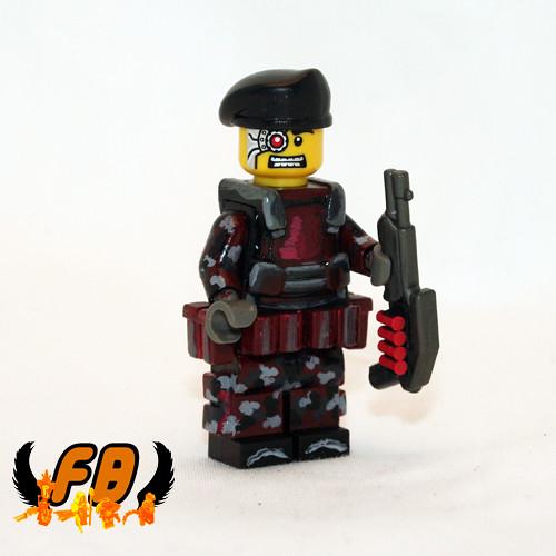 Custom minifig US Special Forces Mars Detachment Cyborg Unit