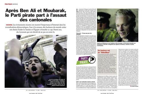 Après Ben Ali et Moubarak, le Parti Pirate part à l'assaut des cantonales
