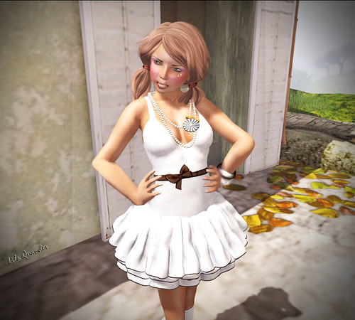 Project Themeory - Grixdale -  Wolf and I - High Waist Skirt - Muted & [croire] kawaii makeup (Close)