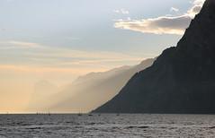 sunset, Lago di Garda (mountainbogy) Tags: italy di arco citta