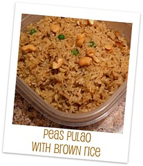 Peas Pulao with brown rice