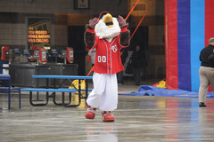 Washington Nationals mascot Screech the Eagle at NatsFest