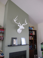 Our New Mantle (trustella) Tags: white fireplace head deer mantle
