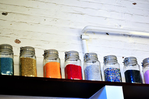 jars of colorful sprinkles!