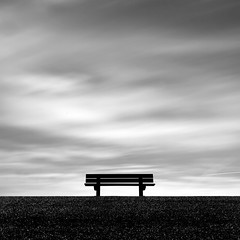 The meeting place (Kees Smans) Tags: blackandwhite netherlands bench fineart zeeland gettyimages royaltyfree daytimelongexposure niksoftware bwnd110 dfine20 theflickrcollection keessmans wwwkeessmanscom silverefexpro2 2011keessmans benchwithseaview 005kspgetty