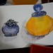 Purple jar and Yellow bottle - Jessica's watercolor journal