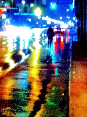 Night life. (Sascha Unger) Tags: auto street iris light people urban berlin art car rain weather bike silhouette night germany licht traffic angle centre perspective center menschen stadt sascha photostudio mitte verkehr fahrrad regen wetter perspektive leipzigerstrasse iphone nachts fxphotostudio sascha2010 saschaunger irisphotosuite