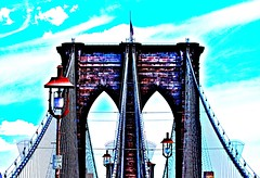 Emerald Bridge (Daren Criswell Photography) Tags: pictures newyorkcity bridge newyork reflection art electric brooklyn skyscraper canon reflections rebel photos oz manhattan broadway architectural lsd photographs empire brooklynbridge phish empirestatebuilding empirestate artdeco canonrebel delaware trippy psychedelic wizardofoz ghetto emerald emeraldcity shrooms criswell getto spun yellowbrickroad canoncamera tripout nokiatheater newyorkstateofmind loseface phishsummertour rebelt3i canonrebelt3i darencriswell criswellwild lsdnews bydarencriswell