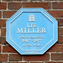 Photo of Lee Miller blue plaque