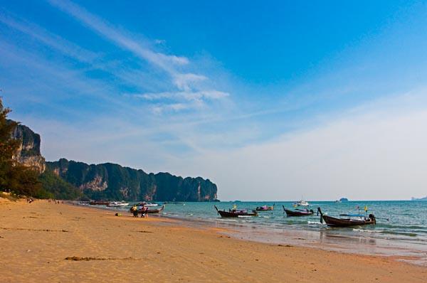 Longtail Boats at Ao Nang Beach