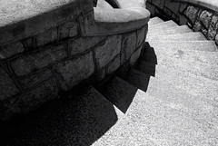 To The Left (Narfas) Tags: old light shadow stone wall virginia photo blackwhite nikon steps richmond granite weathered curve curved stately maymontpark tokina1224f4 d80 capturenx2