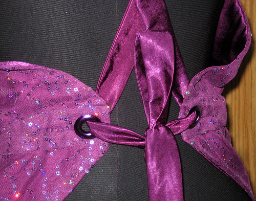 purple sequins grommets