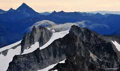moisture over Mt Daniel (longbachnguyen) Tags: sky usa mountain snow clouds airplane flying washington mt daniel aerial cascades wa washingtonstate 2009 aerialphotography longbachnguyen