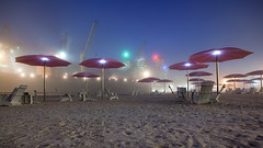Sugar Beach Fog (Mute*) Tags: city mist toronto fog night dock ship nightshot chairs foggy lakeshore umbrellas lakefront unloading redpath sugarbeach musoka