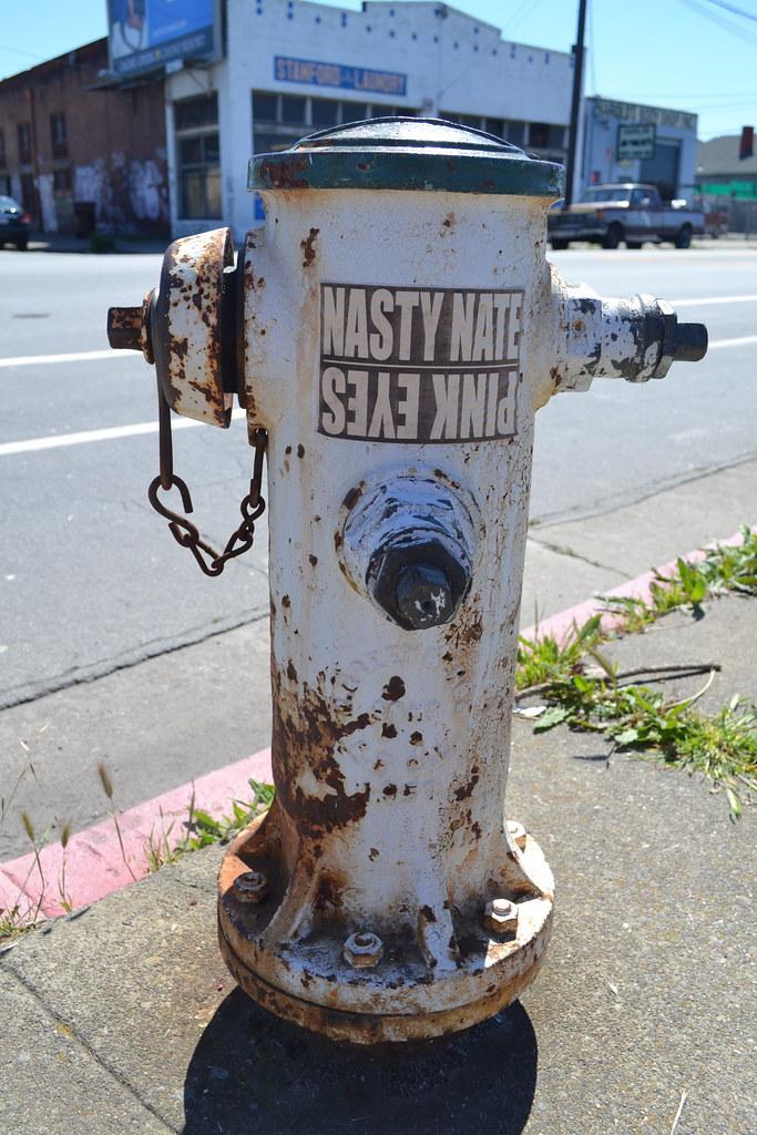 NASTY NATE, PINK EYES, Graffiti, Street Art, sticker, Oakland