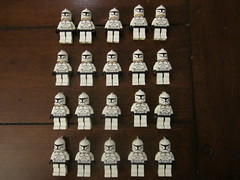 Lego Starwars Clones For Sale (HaloWarz) Tags: 3 star starwars lego action sale halo clones figure series wars reach sales trade cheap droids minifigures