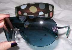 radley green/teal aviator sunglasses