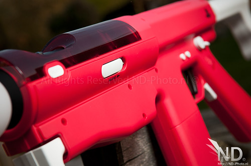 Release switch / Barrel closeup / Sony Sharp Shooter