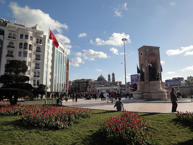 Praca de Taksim em Istambul Turquia